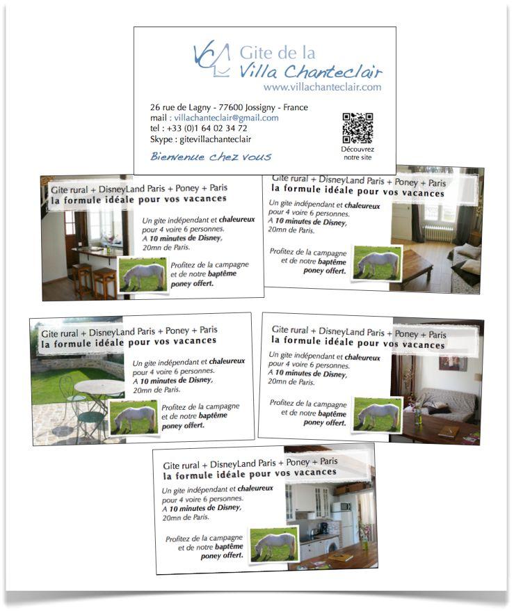 Nouvelles Cartes De Visite Pour Le Gite La Villa Chanteclair