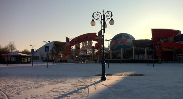 Disney Village sous la neige